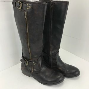 Report Hannah knee high boots brown rustic style 8